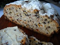 Stollen, also called Klabben is a German Christmas Fruit Bread