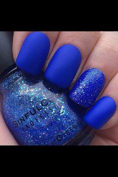 Blue mat nails