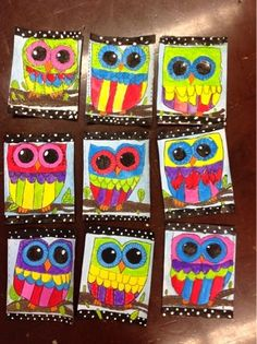 Color It Like you MEAN it!: art by me Cute and colorful, whimsical owl paintings