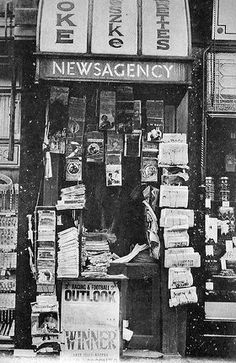 Old Photograph Newspaper Shop Dundee Scotland