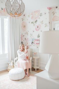 Nursery for a little girl by Monika Hibbs and Olio Studio. Photo by Blush Wedding Studio (via Monika Hibbs).