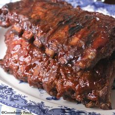 BBQ Pork Ribs - you could make the sauce or just buy one!  I am gonna put this under the broiler since its so cold out