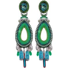 Ayala Bar Earrings (970 PEN) ❤ liked on Polyvore featuring jewelry, earrings, green, ayala bar jewelry, earring jewelry, green jewellery, green jewelry and ayala bar jewellery