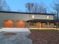 Metal Buildings, Open Floor, Garage Doors, Barn, Floor Plans, Farmhouse, Flooring, Outdoor Decor, Ideas