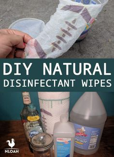 Diy household tips 55943220360211662 - These DIY disinfectant wipes won't expose your skin to potentially harmful chemicals. Two different recipes with castile soap, rubbing alcohol and vinegar. Source by dleighmarie Homemade Disinfecting Wipes, Homemade Wipes, Cleaners Homemade, Diy Cleaners, Homemade Cleaning Supplies, Cleaning Recipes, Cleaning Tips, Diy Cleaning Wipes, Cleaning Spray