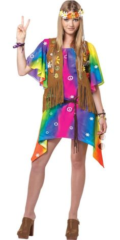 Teen Girls Groovy Girl Costume - Party City