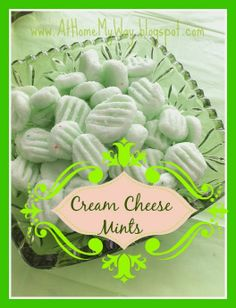 These homemade cream cheese mints are easy and so delicious! Great for holidays, weddings, showers. Mmmmm!