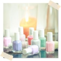 Essie pastel color nails polish