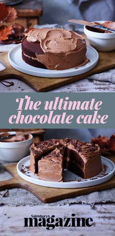 This rich yet light cake has melted chocolate in the sponge to give it a fudgy texture - meet Great British Bake Off winner Nancy Birtwhistle's ultimate chocolate cake!