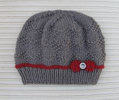 Knit this sweet bow hat with Lion Brand Vanna's Choice! Find the knit pattern by Elena Chen on Ravelry.