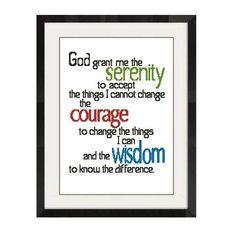 Serenity Prayer Cross Stitch -687 | Craftsy