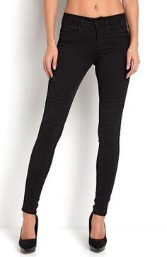 Cool ONLY Jeans Royal Biker jeans Sort fra Halens ONLY Underdele til Dame i luksus kvalitet