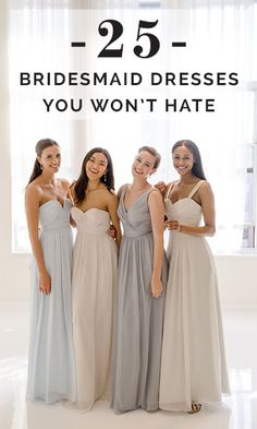 Make your maids happy with dresses they won't hate...seriously! #thankuslater