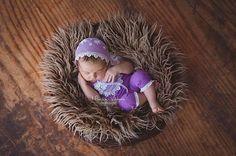 Newborn Set Newborn Romper Lace Romper Purple Newborn