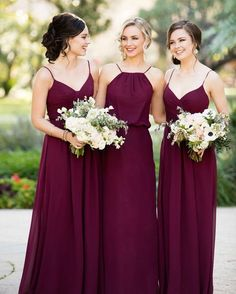 Ideas and inspiration to incorporate burgundy bridesmaid dresses into your wedding day. Ideas and inspiration to incorporate burgundy bridesmaid dresses into your wedding day. Sorella Vita Bridesmaid Dresses, Bridesmaid Dresses 2018, Prom Dress, Bridesmaid Ideas, Dress Party, Bride Maid Dresses, Wine Color Bridesmaid Dress, Bridesmaid Colours, Dream Wedding
