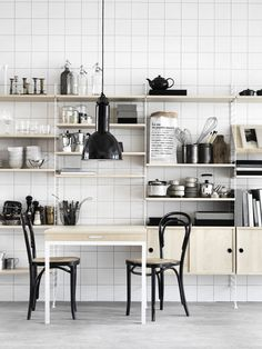 people live with ugly kitchens because you always hear how expensive it is.  But think out of the box, like with this easy shelving and voila!