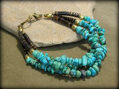 Turquoise Bracelet Beaded Bracelet Southwest by StoneWearDesigns, $46.00