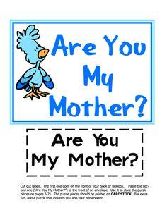Are You My Mother? Book Activities, Preschool Activities, Mother's Day Theme, Are You My Mother, Dr Seuss Baby Shower, Reading Games, Alligators, Free Preschool, Dr Suess