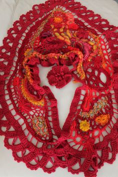 Freeform Crochet Shawl