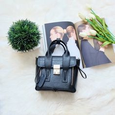 Genuine Leather Mini Pashli Black New. No trade. Zara Bags Crossbody Bags