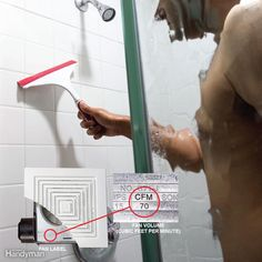Once established, mold around a bathtub or shower can be hard to get rid of, but using these techniques for eliminating bathroom moisture can help keep it under control. Bathroom Mold Cleaner, Bathroom Mold Remover, Mold In Bathroom, Simple Bathroom, Bathtub, Bathroom Ideas, Wall Molding, Diy Molding, Cleaning Mold