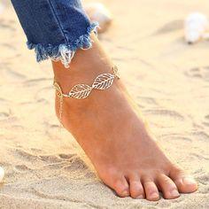 Boho Leaf Ankle Bracelet https://zenyogahub.com/collections/jewellery/products/boho-turquoise-ankle-bracelet