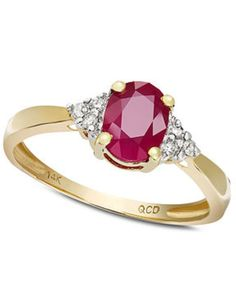 Love this! Ruby ring from Macy's. Cancer birthstone