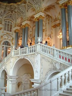 """Jordan staircase in the Hermitage (""""Official"""" entrance into the Winter Palace when it was the home of the Czar.)"""