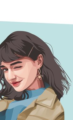 Fiverr freelancer will provide Portraits & Caricatures services and draw a detailed vector portrait illustration including Figures within 1 day Pop Art Drawing, Cartoon Girl Drawing, Girl Cartoon, Cartoon Art, Logo Cartoon, Vector Portrait, Digital Portrait, Portrait Art, Branding Digital