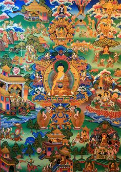 GAUTUMA BUDDHA LIFE: Born in the garden of Lumbini, his childhood locked inside the palace compounds, how he was prevented from seeing and experiencing any kind of pain or suffering of outside world, the day he ventured beyond the castle walls and came across sorrow, pain, death and those suffering - he saw beggar, a cripple, a corpse and a holy man - which affected the prince deeply, the night he escaped the walls of the palace, when all were asleep and began the life of wandering ascetic…