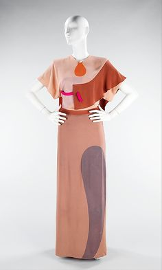 """1944-45 Gilbert Adrian """"Shades of Picasso"""" dress"""
