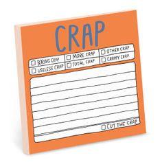 Hand-Lettered Crap Sticky by Knock Knock - knockknockstuff.com