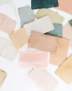 Handmade paper, natural dyes.