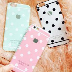 Mais recente moda de luxo para iphone6 caso bonito doces colorem Dot casos de telefone TPU Back Covers para Apple iphone 6 S caso 4.7 polegada em Capas para Telefones Celulares de Telefones e Celulares no AliExpress.com | Alibaba Group