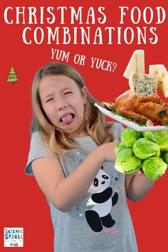 Christmas Food Combinations - fun Christmas food science for kids, is Christmas food yum or yuck? What do your tastebuds think?#ChristmasScience #ChristmasFood Kitchen Science, Food Science, Science For Kids, Science Experiments, Christmas Activities For Toddlers, Traditional Christmas Dinner, Salty Foods, Food Combining, Mince Pies
