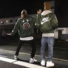 Bape x Air Jordan x Nike Air Photo Cred:… Urban Fashion, Teen Fashion, Fashion Ideas, Polo Sport, Fall Outfits, Casual Outfits, Adidas Shoes Women, Mode Style, Fashion Killa