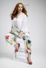 #plussize #curvy - plusperfekt.de - Florales Aquarell in PlusSize- Bild: Sallie Sahne
