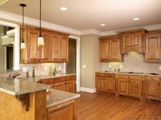 Perfect Kitchen Design, Remarkable Tuscany Kitchens With Golden Brown Kitchen  Cabinet Color Also Gray Granite Kitchen