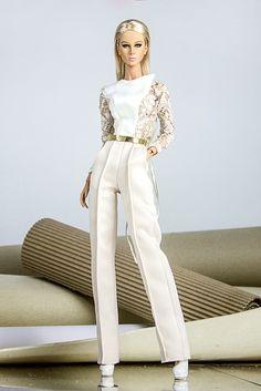 Resort 2016 White Laces Pants Fashion Set