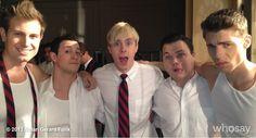 "Nolan Gerard Funk's, photo,""On the set of Glee: Boy of bad influence Hunter Claring…"""
