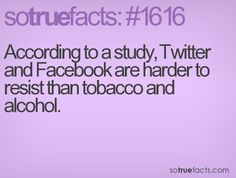 According to a study, Twitter and Facebook are harder to resist than tobacco and alcohol.
