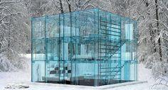 Glass House, Santambrogiomilano #architecture http://www.arkitera.com/haber/index/detay/mimarlikta-cam-konsepti/9545