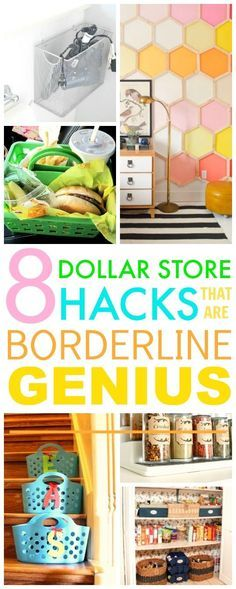 You HAVE TO check out these 8 Dollar store hacks! They're SO GOOD! I've already tried a couple and I've saved A TON of money and my home looks so cute!