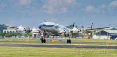The Breitling Super Constellation lifts off at Farnborough 2014