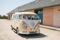 VW camper van for Emma and Chris' relaxed festival wedding on the Cornish coast with outdoor ceremony in an ampitheatre and colourful flowers // The Natural Wedding Company Outdoor Ceremony, Wedding Ceremony, Cornish Coast, Wedding Company, Festival Wedding, Vw Camper, Wedding Season, Cornwall, Colorful Flowers