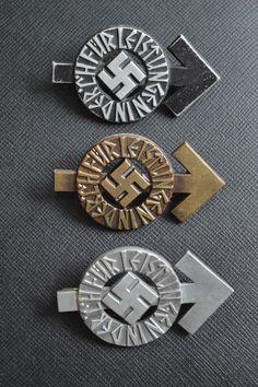 Hitlerjugend-Leistungsabzeichen in Bronze, Silber und Gold 1934
