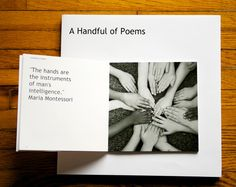 I love the idea of this as a poetry book to be auctioned off as a fundraiser for school--must do in middle school!