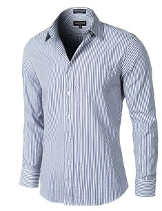 Mens Fashion Stores Near Me Refferal: 5455523643 Mens Boots Fashion, Fashion Men, Long Sleeve Shirt Dress, Dress Shirts, Mens Clothing Styles, Men's Clothing, Mens Suits, Blue Stripes, Shirt Outfit