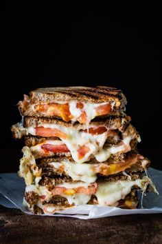 Grilled cheese tomato sandwich, delicious!