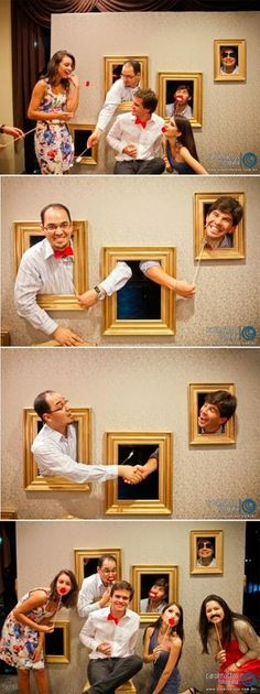 Photo booth...this is such a cute idea and can be used for any type of wedding or party....Teenagers will Love It!